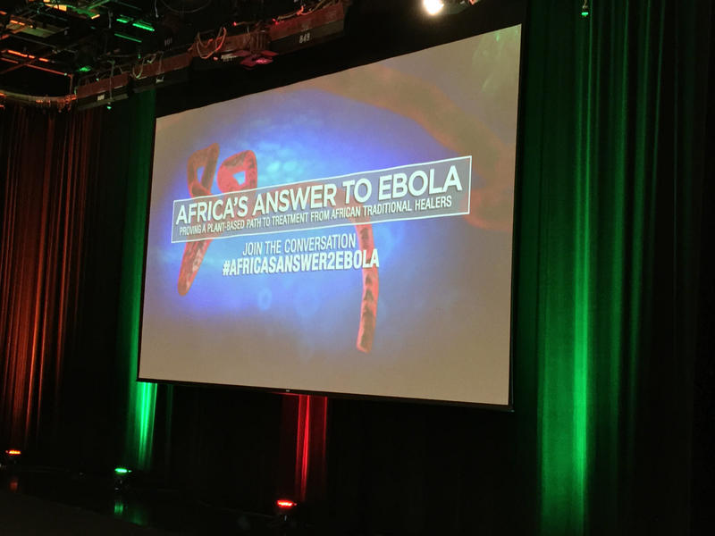 Wednesday's elaborate, two-hour Ebola press conference/televised round table discussion took place at Georgia Public Broadcasting's TV studios. Organizers used the opportunity to both tout their findings and appeal for more funding.