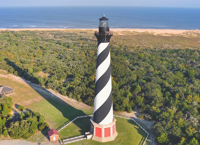 The Cape Hatteras Lighthouse, the tallest in the United States is just one of the sites to see on a trip to North Carolina's Outer Banks.