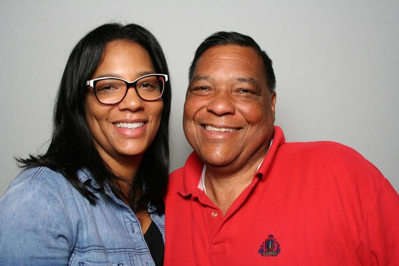 Kysha Cameron and her father, Theodore Ferguson, at the StoryCorps Atlanta booth.