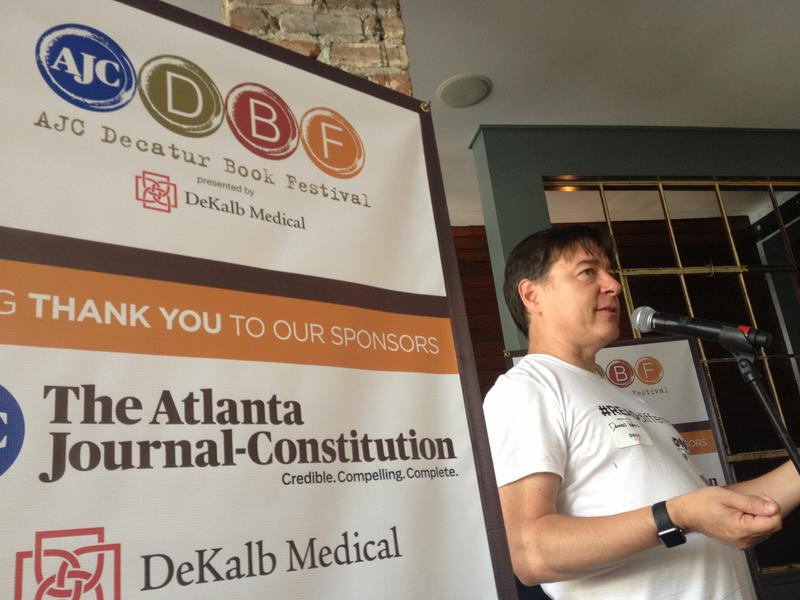 AJC Decatur Book Festival founder and executive director Daren Wang at the launch event for the 2015 festival at Leon's Full Service in Decatur, June 15.