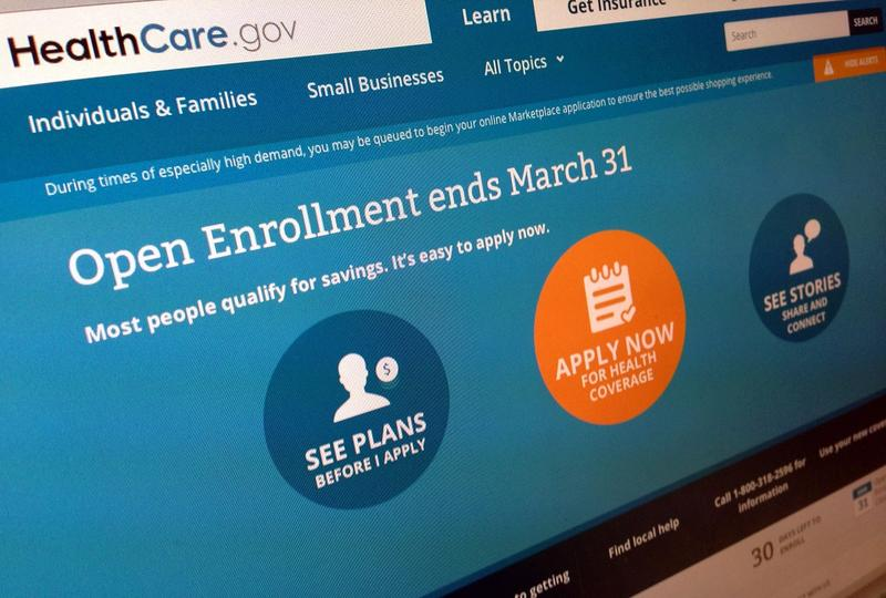 This March 1, 2014 file photo shows part of the website for HealthCare.gov, seen in Washington.