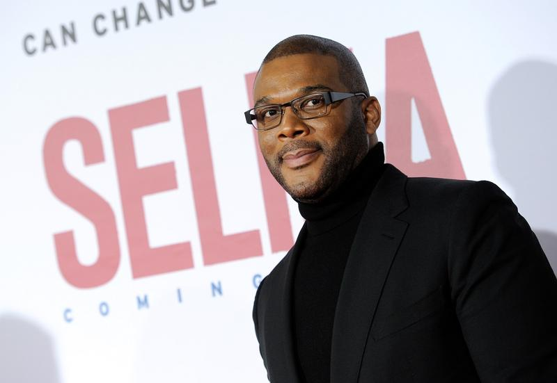 "Tyler Perry attends the premiere of ""Selma"" at the Ziegfeld Theatre on Sunday, Dec. 14, 2014, in New York."