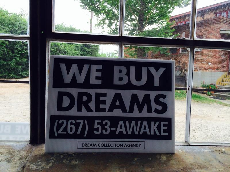 The Dream Collection Agency is an Atlanta-based art project and social experiment that invites people to pay them a visit, or give them a call, and share their dreams for posterity.