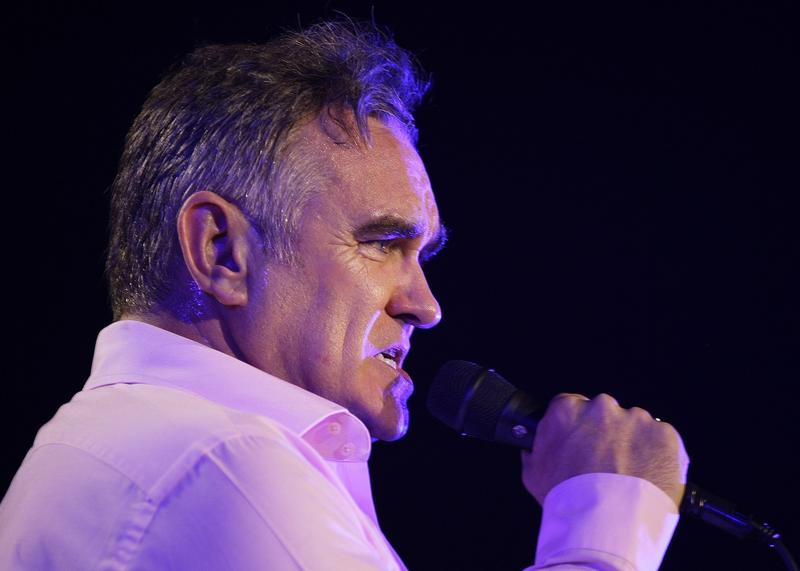 British rock singer Morrissey, the former front man of the alternative rock group The Smiths, sings during his concert in Manila, Philippines on Sunday May 13, 2012. Morrissey recently sent a letter on behalf of Manila-based People for the Ethical Treatme