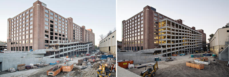 Construction of Ponce City Market's parking ramp