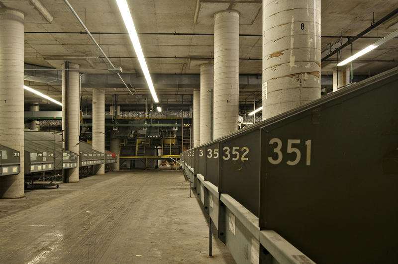 Sears conveyor equipment sat unused for decades in the old building.