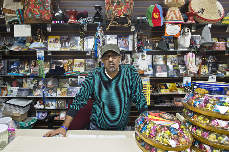 Hussein Galib, owner of Dalmar Market, a Clarkston store specializing in Ethiopian foods and goods