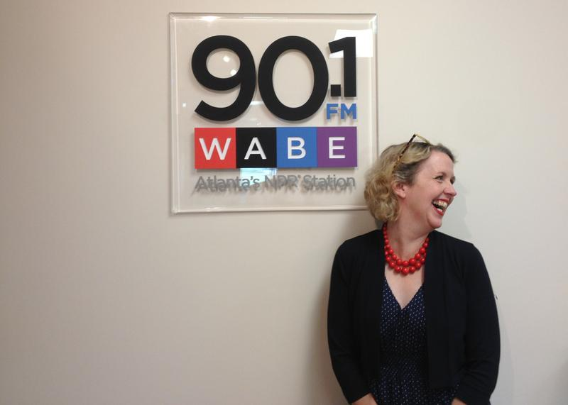 """Lauretta Hannon, author of """"The Cracker Queen,"""" and subject of the film """"Raised in the South of Normal"""" visiting the WABE studios."""