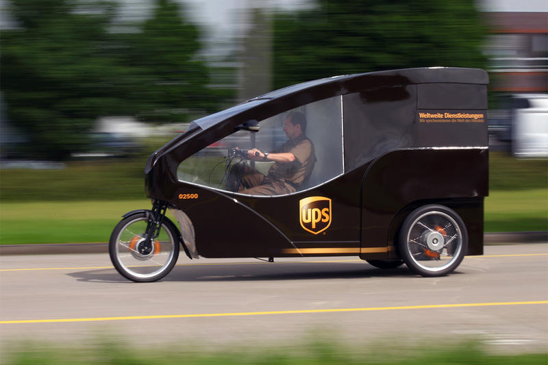 UPS Cargo Bike Utilized in Hamburg, Germany