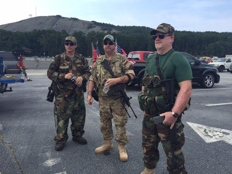 "Members of the ""Georgia Security Force,"" a local militia who were asked by rally organizers to provide security/crowd control  in cooperation with law enforcement"