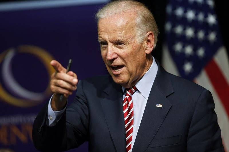 In this July 21, 2015, file photo, Vice President Joe Biden speaks during a roundtable discussion at the Advanced Manufacturing Center at Community College of Denver. Biden and his wife are retreating from Washington for a week in South Carolina with litt