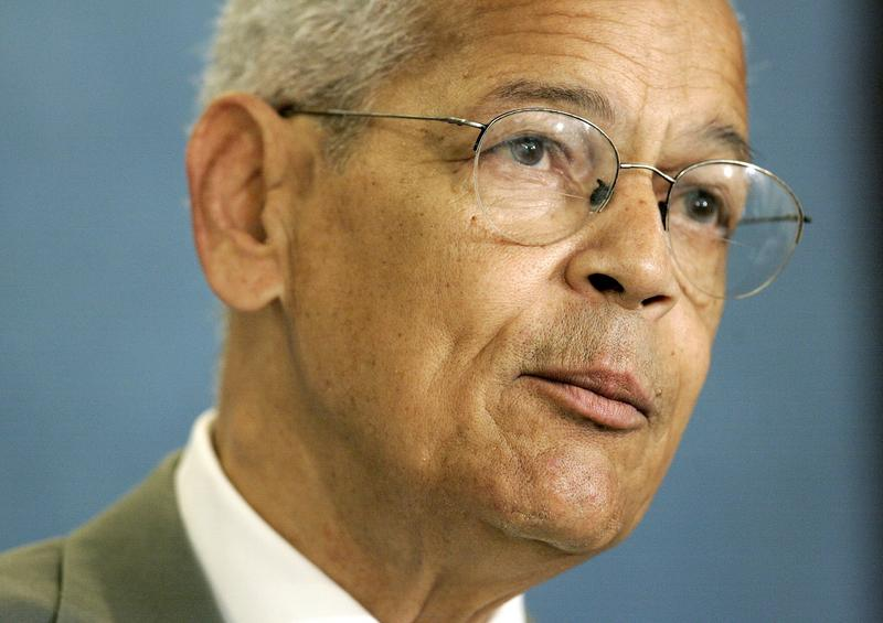 National Association for the Advancement of Colored People (NAACP) Chairman Julian Bond speaks during a news conference at the National Press Club in Washington, Thursday, Aug. 31, 2006.
