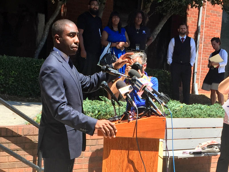 "DeKalb Interim CEO Lee May called a Wednesday press conference to ""set the record straight"" on the county's handling of tax dollars to entice a professional soccer club. He also, for the first time, publicly addressed a scathing, preliminary report that l"