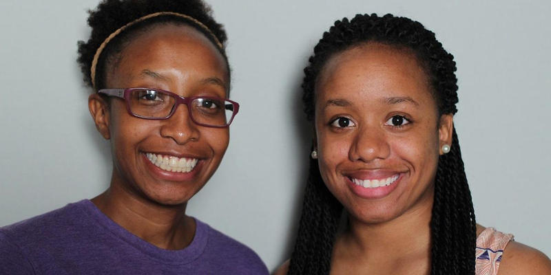 Cousins Jessica Evans and Jasmine Johnson talked about their grandmother in the StoryCorps booth.