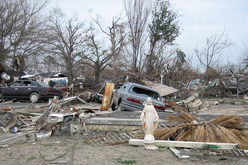 Lower 9th Ward, New Orleans, when area back from Claiborne Avenue was reopened months after the levee failure disaster during Hurricane Katrina.