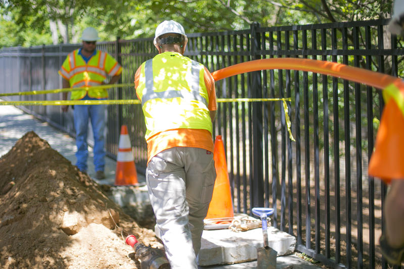 In the first quarter of this year, compared to last year, the utility company Atlanta Gas Light, says there has been a 67 percent increase in reports of damaged natural gas lines in its service areas.