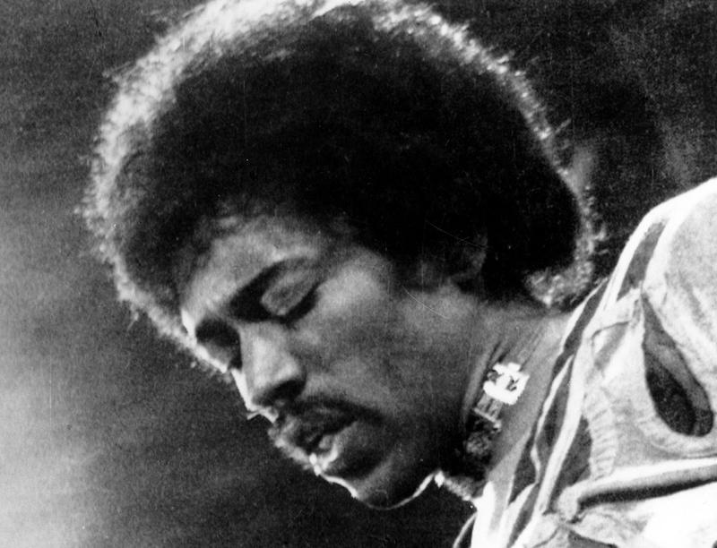 In this 1970 file photo, Jimi Hendrix performs on the Isle of Wight in England.
