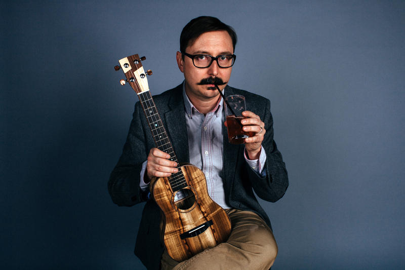 John Hodgman performs at The Plaza Theatre this Tuesday. No word on whether he'll bring this ukelele.