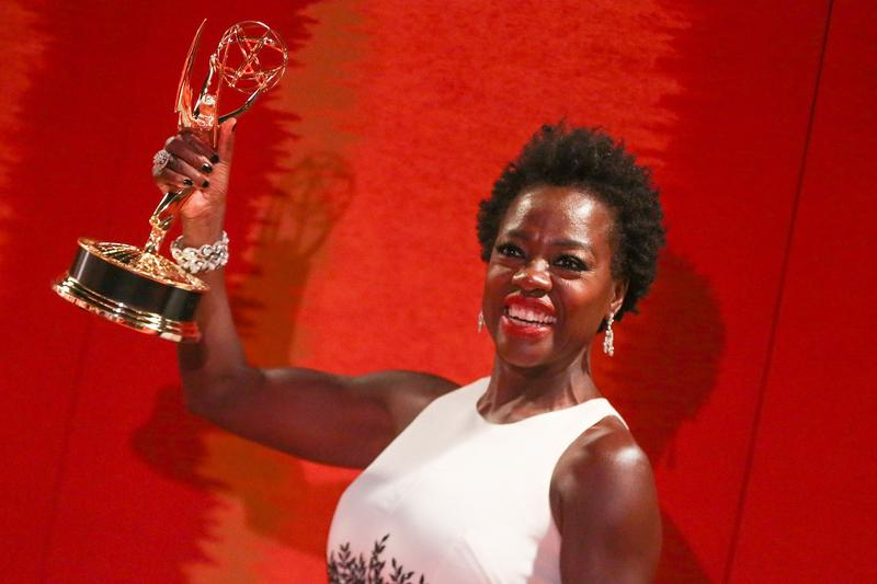 Actress Viola Davis arrives at the 2015 HBO Primetime Emmy Awards after-party at Pacific Design Center on Sunday in West Hollywood, California. Davis won an Emmy for her role in ''How to Get Away With Murder.''