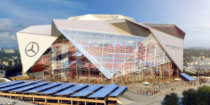 Atlanta United will also play at the Mercedes-Benz stadium with the Atlanta Falcons. It plans to install mechanical drapes on the the top half of the stadium -- so the capacity for soccer games will be about 30,000.