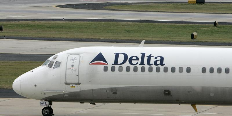 Atlanta-based Delta Air Lines had to ground about 3,500 flights after Wednesday's severe storms disrupted service.