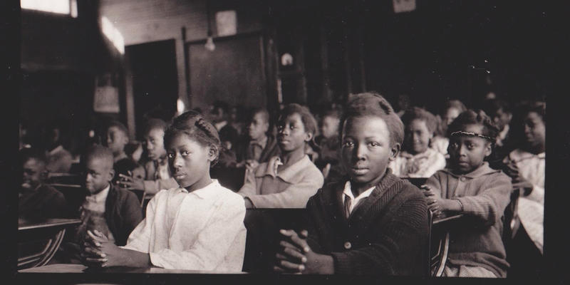 This photo taken around 1930 shows African-American children in a school that wouldn't have existed just decades earlier.