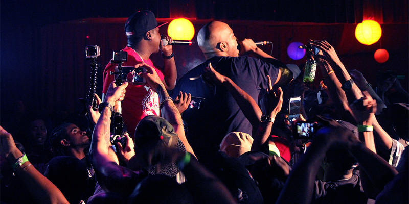 The Lox is shown performing at the 2014 A3C event. In its 11th year, the A3C Festival and Conference features shows with hip-hop legends and innovators along with panel discussion on the music industry.
