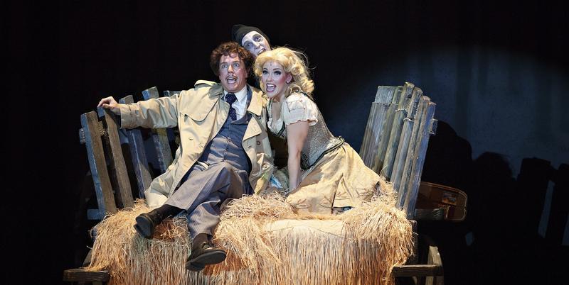 Actors Googie Uterhardt, Alison Brannon and Austin Tijerina perform in the Atlanta Lyric Theatre's production of the musical ''Young Frankenstein.''