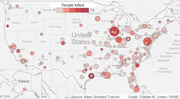 Mass Shootings By State Map.Mass Shooting California Wabe 90 1 Fm
