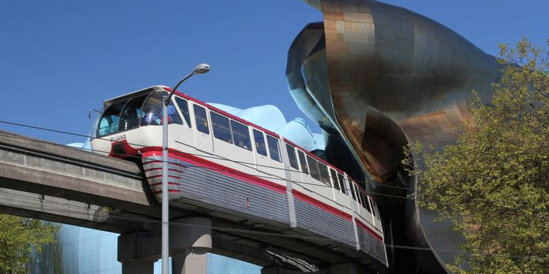 Metro Atlanta cities like Brookhaven and Chamblee are looking into monorail systems, like this one in Seattle, as a possible form of public transportation.