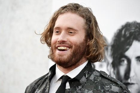 "T. J. Miller arrives at the LA Premiere of ""Silicon Valley"" on Thursday, April 3, 2014, in Los Angeles."