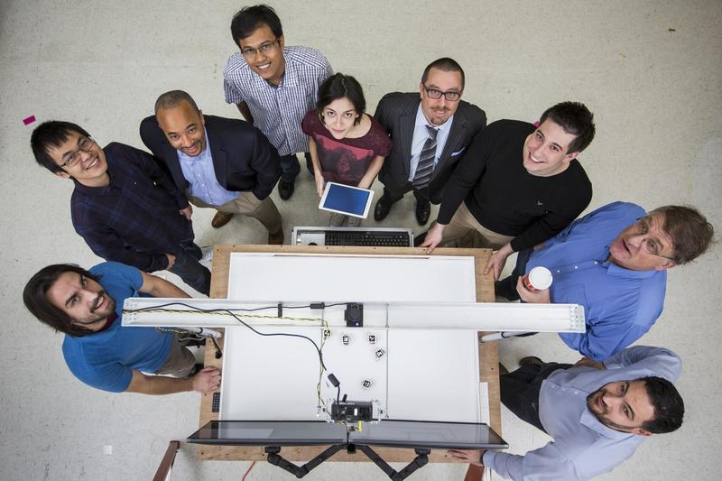 Faculty members and graduate students played a key role in testing a miniature version of the remote system in the fall of 2015.