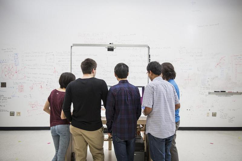 Ph.D. students are helping develop the Robotarium.