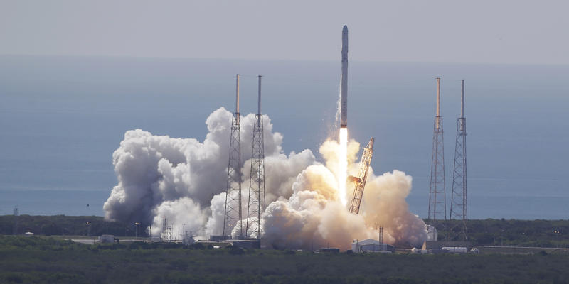The Federal Aviation Administration is studying a proposal for a private spaceport in Georgia. The SpaceX Falcon 9 rocket and Dragon spacecraft lifts off from Space Launch Complex 40 at the Cape Canaveral Air Force Station in Florida, June 28, 2015.