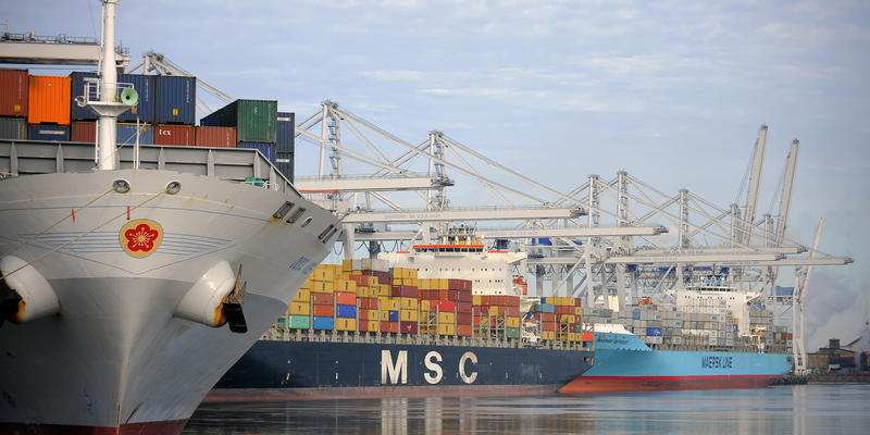 The Georgia Ports Authority said more than 3.4 million container units moved through the ports of Savannah and Brunswick in 2016.