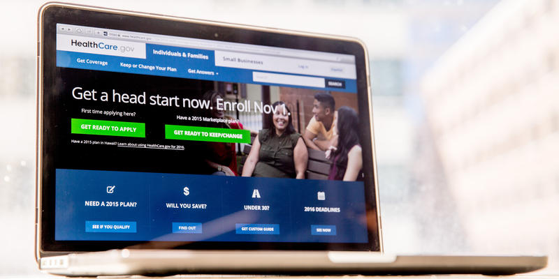 The HealthCare.gov website, where people can buy health insurance, is displayed on a laptop screen in Washington, Tuesday, Oct. 6, 2015.