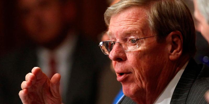 Sen. Johnny Isakson (R-Ga.) during a hearing at the Senate Finance Committee, May, 2013.