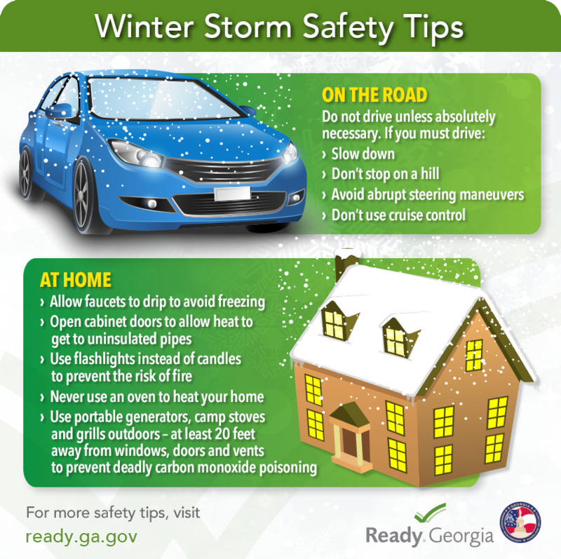 During a winter storm, drivers should avoid the road unless absolutely necessary.