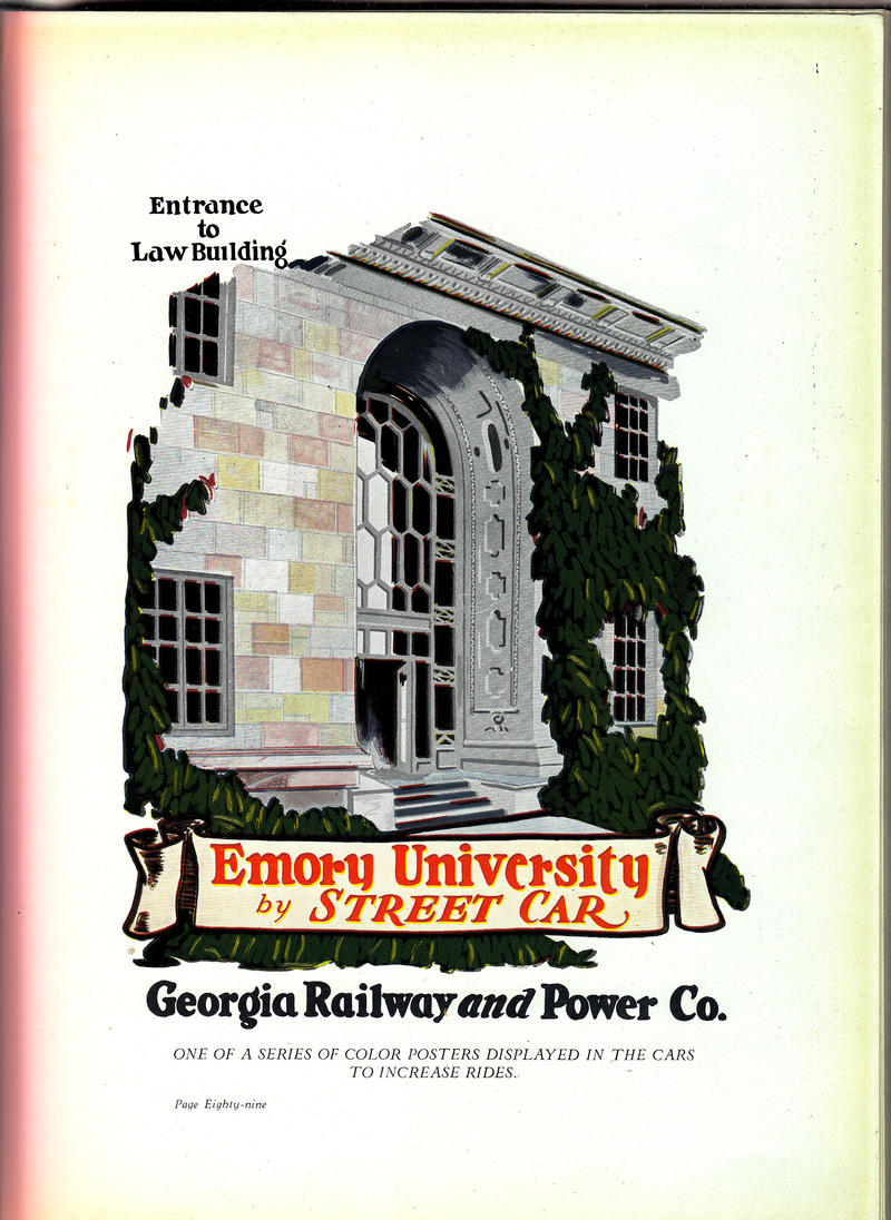 Emory University By Streetcar Advertisement