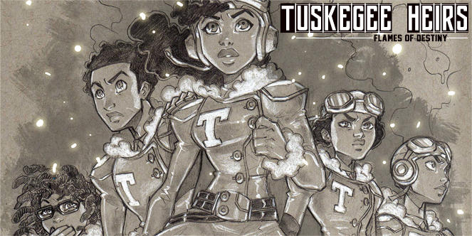 "The comic book, ""Tuskegee Heirs,"" will feature illustrations by Marcus Williams."