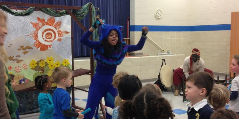 """A Bucket of Blessings,"" which stars a monkey and an elephant, is the current production being put on by the Alliance's Theatre for the Very Young program"