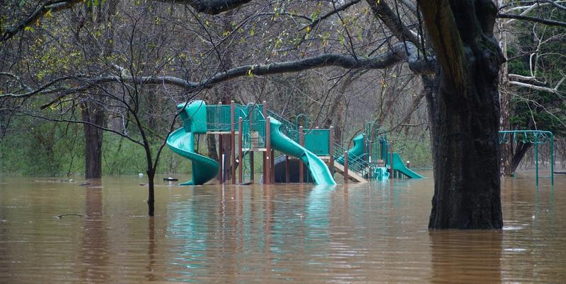 People living around Atlanta Memorial Park say even small amounts of rain can cause treated sewage to seep up into the park and active playground.