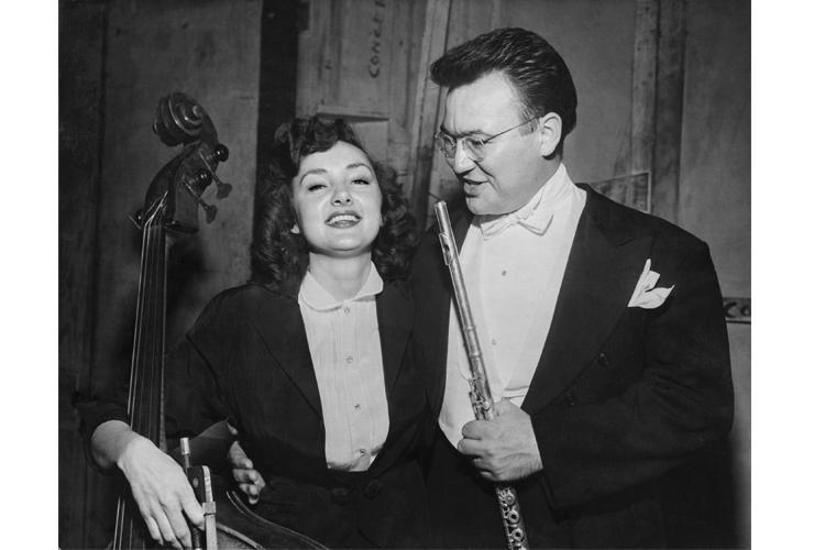 Jane Little is pictured here with her husband Warren Little, who was the principal flutist of the ASO.
