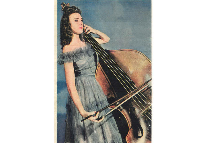 A portrait of Jane Little from a 1945 profile of the Atlanta Youth Symphony Orchestra, the precursor to the official symphony.