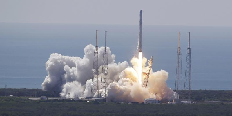 The SpaceX Falcon 9 rocket and Dragon spacecraft lifts off from Space Launch Complex 40 at the Cape Canaveral Air Force Station in Cape Canaveral, Fla., Sunday, June 28, 2015. Camden County could become the site of a new commercial spaceport.