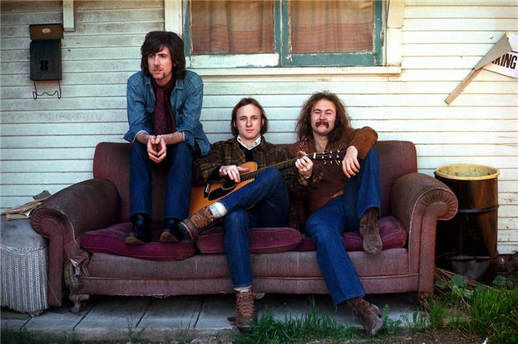 Henry Diltz's image of Crosby, Stills and Nash become their debut album cover.