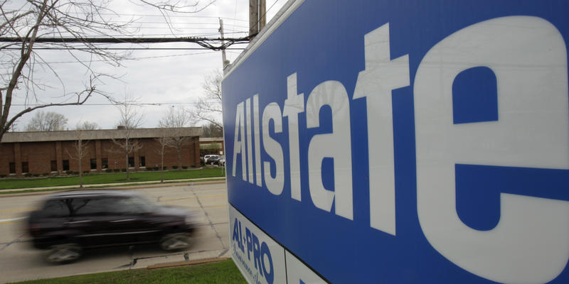 A car drives past an Allstate Insurance Co. office Wednesday, April 27, 2011, in Lyndhurst, Ohio.