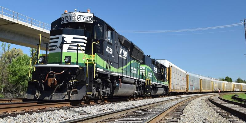 Norfolk Southern's green locomotives are designed to pollute less.