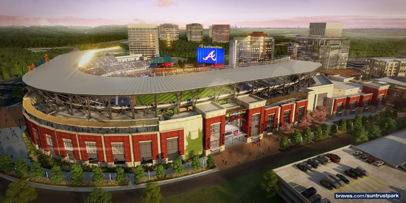 The Atlanta Braves play their first game in SunTrust Park on Friday, March 31. It is an exhibition game against the New York Yankees.