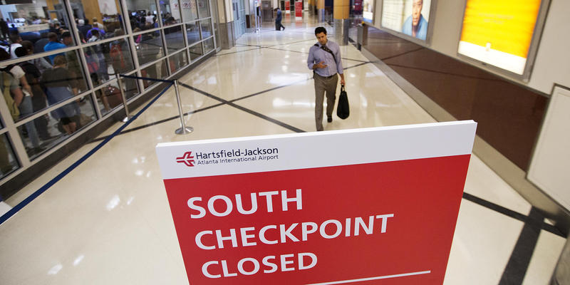 Atlanta airport security checkpoint